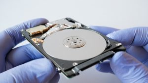 A conventional hard disk drive
